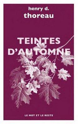 Teintes d'automne de Henry d Thoreau