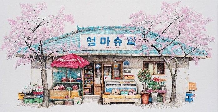 Mekyeong Lee Les petites épiceries de mon enfance